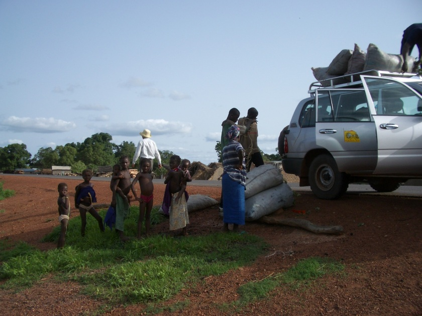 Loading charcoal bound for Bomako in Mali
